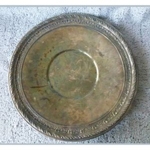 Wallace Tray Platter Silver Plated Round  …